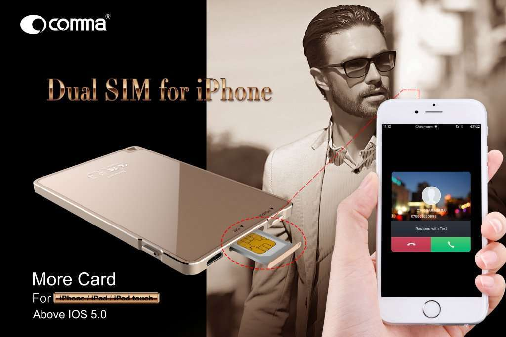 Comma Dual SIM for iPhone poster1.jpg