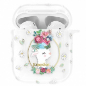 Kingxbar Adorable Series Case with Swarovski Crystals for Airpods Flower Alpaca
