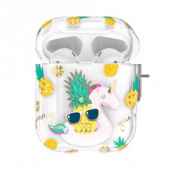 Kingxbar Orchard Series Case with Swarovski Crystals for Airpods Pineapple