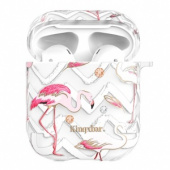Kingxbar Flamingo Series Case with Swarovski Crystals for Airpods Feather